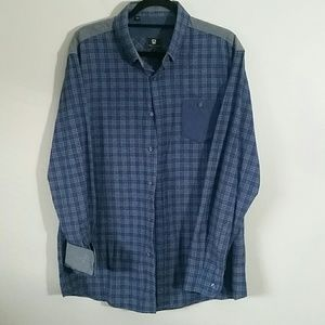 Mens Steel and Jelly button down